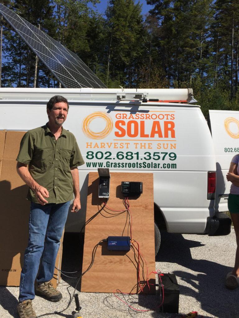 Solar demonstration for students.