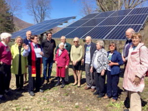 Power generated by these solar panels will power the Dorset Church